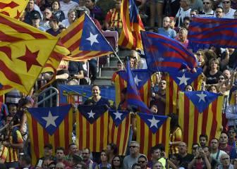 El juez no admite el recurso del Barcelona por las esteladas