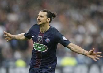 Ibrahimovic dice adiós al PSG ganando la Copa de Francia