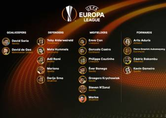 España acapara la atención en el equipo de la Europa League
