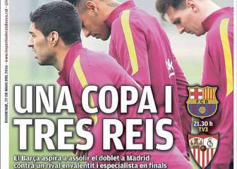 Una Copa y tres reyes: la prensa confía en el tridente