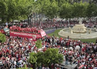 El Sevilla celebra su quinta Europa League