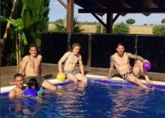 Keylor, Modric y Lucas se relajan con Ramos en Sevilla