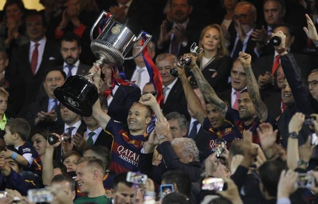 Celebración del Barcelona en el Camp Nou en directo