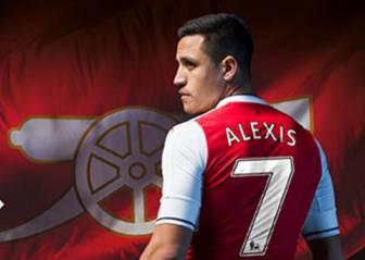 El Arsenal presenta equipación y Alexis posa con la