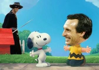 Emery y Snoopy, protagonistas de un curioso montaje