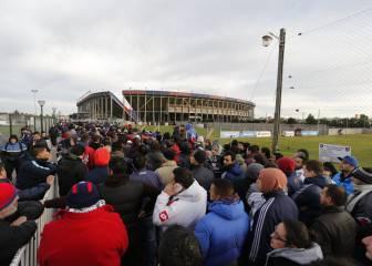 Colas infinitas de los seguidores del San Lorenzo para ver la Gran Final