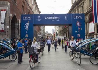 Ambiente de Champions en las calles de Milán