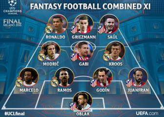 6 del Atleti y 5 del Madrid en el once de la final del Fantasy