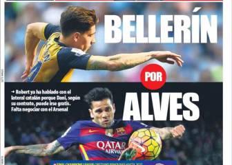 Portadas de Barcelona: Bellerín, el recambio de Alves