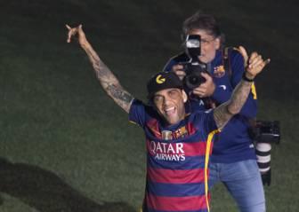 """A Alves ya no le duele la fascia: """"Estoy en perfecto estado"""