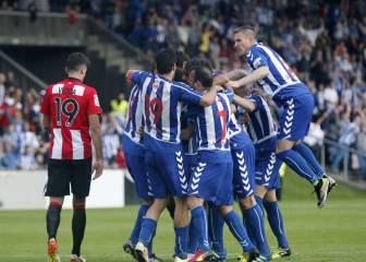 El Alavés gana en Lasesarre y está a una victoria de Primera