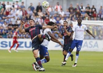 El Zaragoza no puede con un Huesca que se quedó con diez