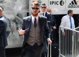 Las imágenes de la llegada del Real Madrid
