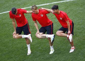 Último entrenamiento del Atlético antes de la final