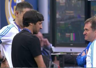 Cristiano se entrenó a tope en San Siro ante la mirada de Raúl