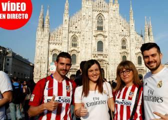Sigue las fiestas de las Fan Zones de Atleti y Madrid