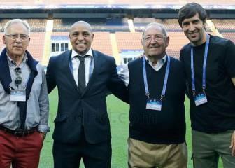 Las leyendas del Real Madrid arroparon al equipo en Milán