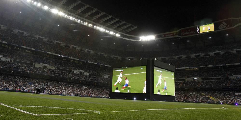 Real Madrid vs Atlético: El Santiago Bernabéu, lleno para verlo en pantalla gigante - AS.com