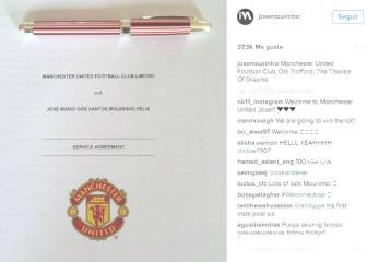 Mourinho estrena Instagram con su contrato con el United