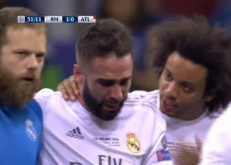 Carvajal se retira llorando tras lesionarse en el minuto 50