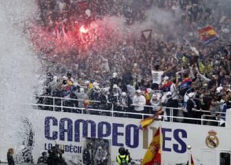 Celebración de la Fiesta de la Undécima Champions del Real Madrid en directo: Bernabéu