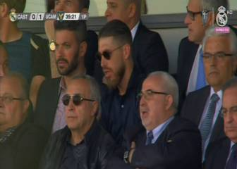 Ramos estuvo viendo al Castilla en el Alfredo Di Stéfano