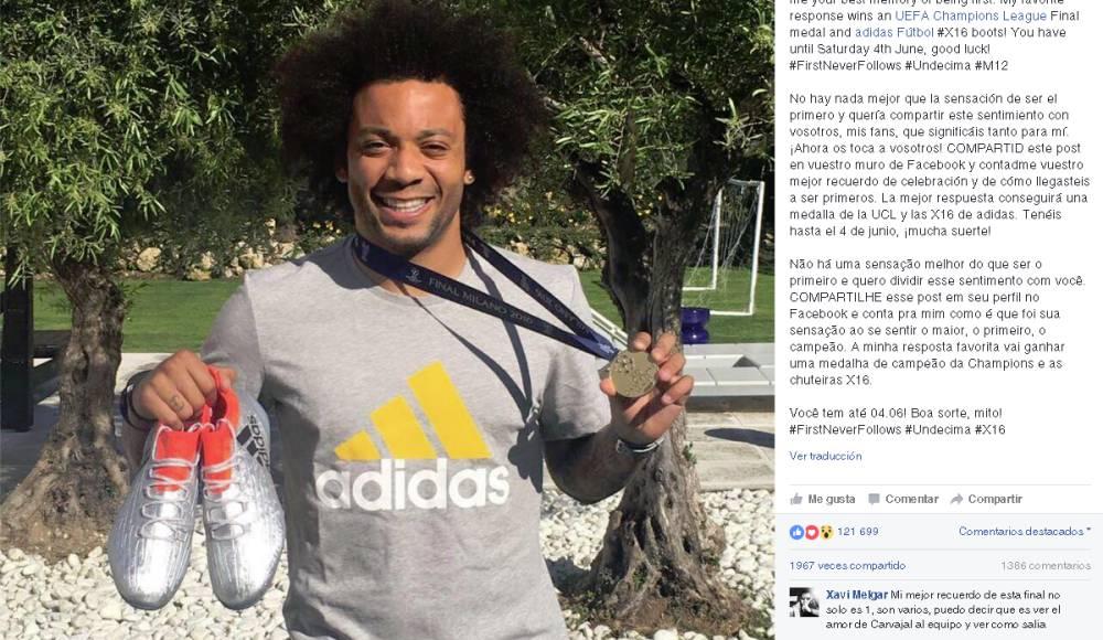 Marcelo regala su medalla de campeón de la Champions
