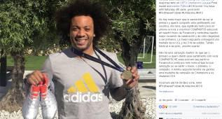 Marcelo sortea su medalla de campeón de la Champions