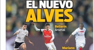 Bellerín, Mariano, Krychowiak y Gameiro en la prensa catalana