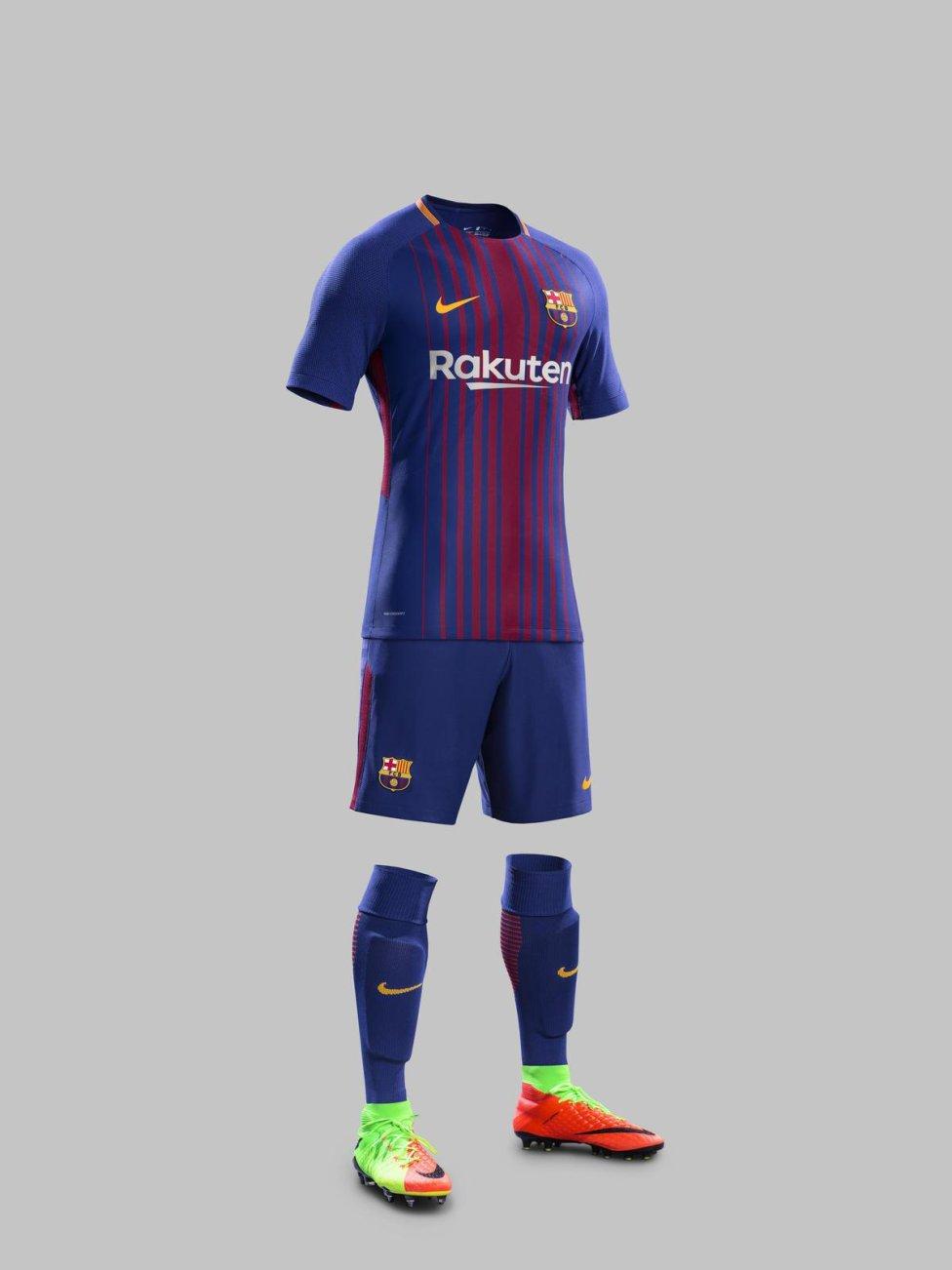 uniforme del Barcelona futbol