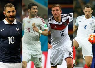 Los grandes 'olvidados' por sus seleccionadores para la Euro