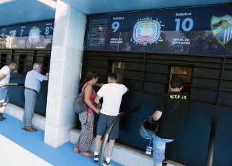 El Málaga baja el precio de los abonos: desde 195 a 930 euros