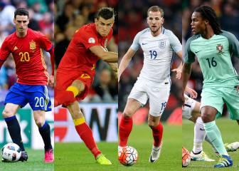 Jugadores que debutarán en un gran torneo de selecciones