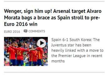 Mirror se rinde a Morata: