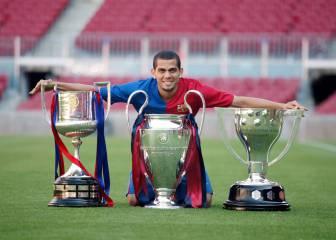 Las 8 temporadas de Alves con el Barcelona en imágenes