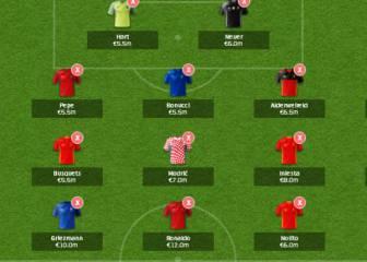 Este es el equipo de AS para la Fantasy de la Eurocopa