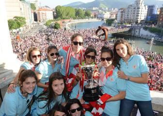 Bilbao se vuelca con la celebración de la liga del Athletic femenino