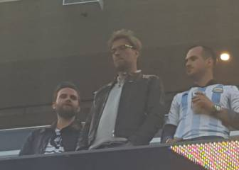 Jürgen Klopp estuvo en el palco del Argentina vs Chile