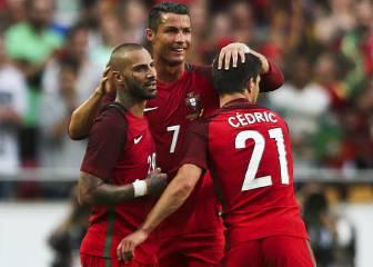 Cristiano llega a la Eurocopa como un tiro: doblete a Estonia