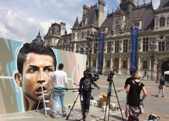 Cristiano, retratado para la Euro por el grafitero Belin