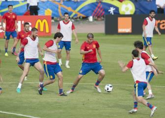 Primera prueba de Del Bosque: Silva, Nolito y Aduriz en ataque