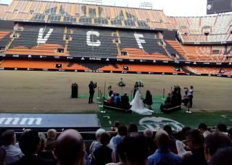Mestalla se viste de gala para celebrar su primera boda