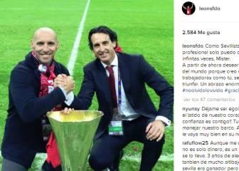 Monchi a Emery: 'Sólo puedo darte las gracias infinitas veces'