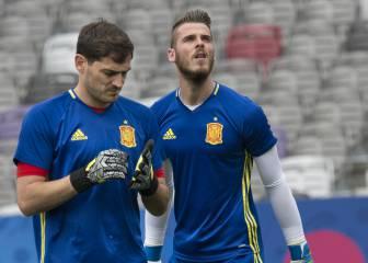 Iker Casillas ha estado al lado de De Gea durante estos días