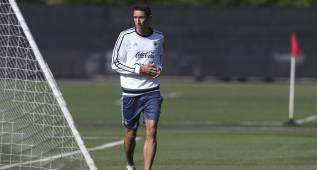 Di María se entrena pensando en jugar las semifinales