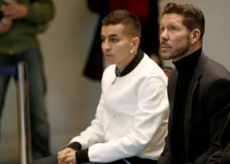 Simeone y Gil Marín tratan el futuro de Correa y Nico Gaitán
