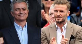"""Beckham bendice a Mourinho: """"Deseo verle ya en Old Trafford"""""""