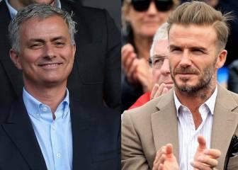 Beckham bendice a Mourinho: 'Deseo verle ya en Old Trafford'