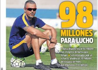 Luis Enrique tiene 98 millones para fichar, según Sport
