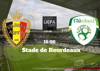 Bélgica vs Irlanda en vivo online: Eurocopa 2016, Grupo E